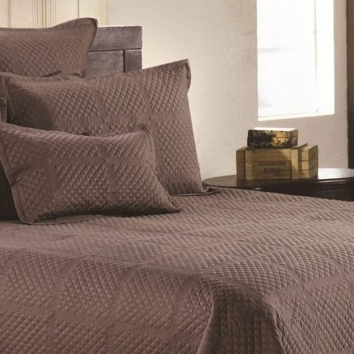 Crista Coverlet Chocolate
